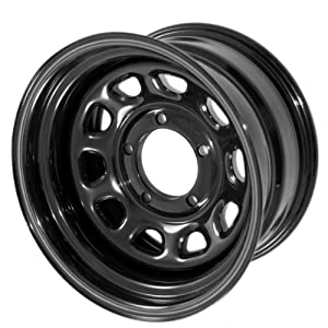 Rugged Ridge D-Window Black Wheel (15x8