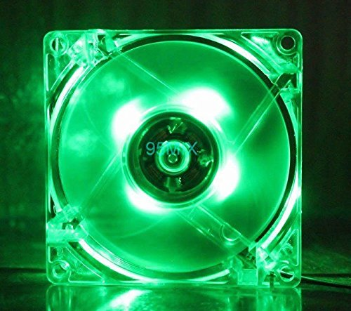 RiteCool Green LED Case Fan 120mm 12v DC Computer Desktop Fan (120mm Case Fan Slim compare prices)