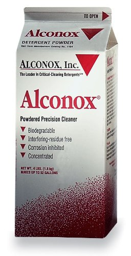 <b>Alconox </b> cleaner for manual or ultrasonic cleaning, 4 lb box, case of 9 boxes