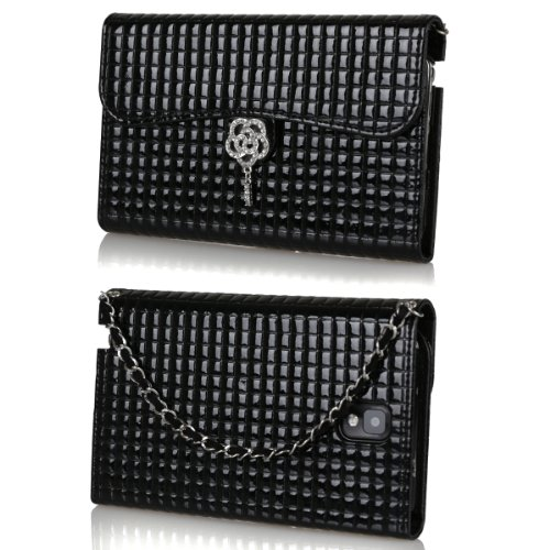 Ihand Handbag Clutch Wallet Case With Bling For Samsung Galaxy Note 3 Iii [Retail Package] - Black