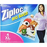 Ziploc Big Bag Double Zipper, X-Large, 4-Count