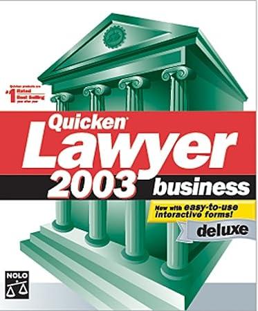 Quicken Lawyer 2003 Business Deluxe