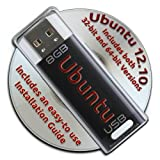 Ubuntu Linux 12.10 Live Bootable 8GB USB Flash Drive - Both 32-bit and 64-bit