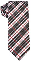 Neckties By Scott Allan, Black and White Plaid Neckties
