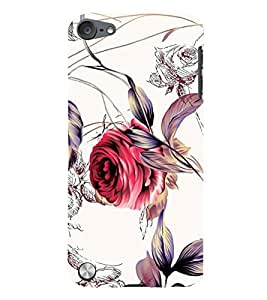 Fuson 3D Printed Flower Wallpaper Designer Back Case Cover for Apple iPod Touch 5 - D875