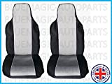 NISSAN QASHQAI (2010 on) 5 SEATER Premium Fabric Seat Covers Black & Grey Racing 1+1