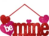Amscan International Valentines Day Glitter Small Sign Message Decoration