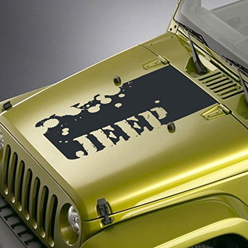 Jeepazoid Jeep Wrangler Splatter Blackout Hood Decal