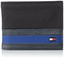 Tommy Hilfiger Mens Exeter Passcase Billfold Wallet, Black, One Size