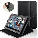 "IndiSmack Black Synthetic Leather Universal Flip Folio Case Cover Cum Stand For 10 Inch 10"" Tablets"