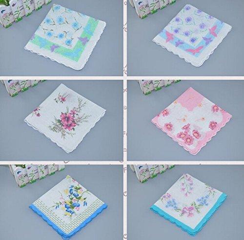 Uniquezone Vintage Floral Handkerchief Wendding Party Fabric Hanky 1