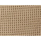 Organic Cotton Waffle Weave Fabric - Natural - By the Yard