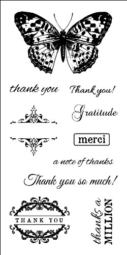 Fiskars 102800-1001 Clear Rubber Stamp, Many Thanks, 3 by 6-Inch