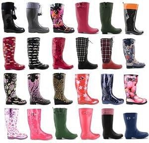 Footwear Sensation - botas de nieve de sintético mujer, color negro, talla 40
