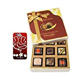 Chocholik Belgium Chocolates - 9pc Luscious Truffle Treat With With 3d Mobile Cover For IPhone 6 - Gifts For Diwali