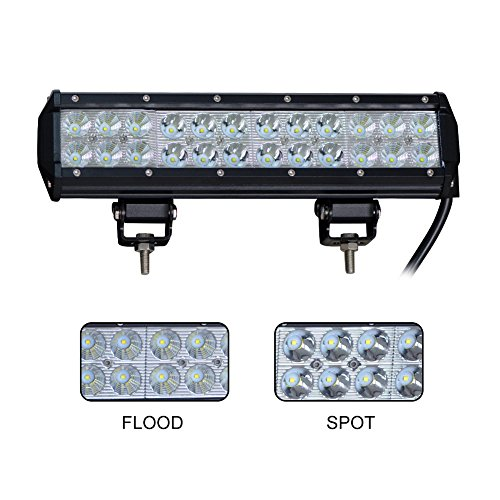 LED Light Bar Nilight 12 Inch 72W LED Work Light Spot Flood Combo LED Lights Led Bar Driving Fog Lights Jeep Off Road Lights Boat Lighting ,2 Years Warranty (Off Road Lights Bar compare prices)