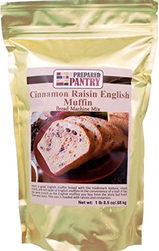 The Prepared Pantry Cinnamon Raisin English Muffin Gourmet Bread Machine Mix, 24.5 Ounce (Cinnamon Raisin Bread Machine Mix compare prices)