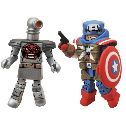 Minimates: Marvel Series 54 Fighting Chance Captain America vs. Robot Red Skull Action Figure 2-Pack