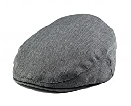 Born To Love Grey Herringbone Driver Page Boy Cap-SM