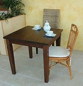 Tavolo da pranzo quadrato 80x80 cm in legno massello di - Tavolo da pranzo quadrato ...