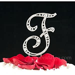 Amazon.com: Swarovski Crystal Monogram Cake Topper Vintage