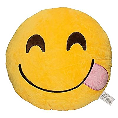 Weitengs Oi Emoji Smiley Emoticon Cushion Pillow Stuffed Plush Toy Doll Yellow from Weitengs