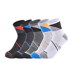 Aaronano 靴下 ソックス メンズ 5足セットスニーカー用 抗菌 防臭 通気吸汗 23-27cm