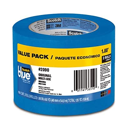 Scotch Blue Painter's Tape 2 Roll Value Pack 1.88""