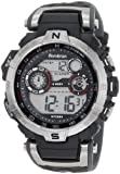 Armitron Mens 408231RDGY Silver-Tone and Black Chronograph Digital Sport Watch
