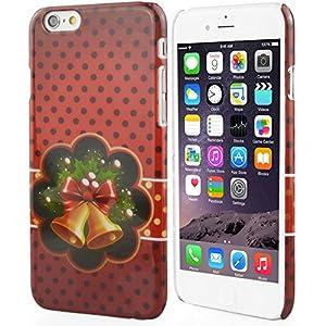 GrandEver Weihnachten Handy-Tasche Hülle für Apple iPhone6 4.7. Weihnachten Geschenke Glücklich, Liebe, Glück Rot Schutzhülle Hülle für iPhone6 4.7