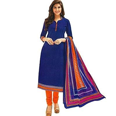 Ethnic Printed Cotton Salwar Kameez Suit [Un-Stitched Dress Material]