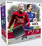 echange, troc Sony PlayStation 3 slim (120 GB) & Fifa 10 & 2 Dualshock 3 Wireless Controller (Sixaxis) [import allemand]