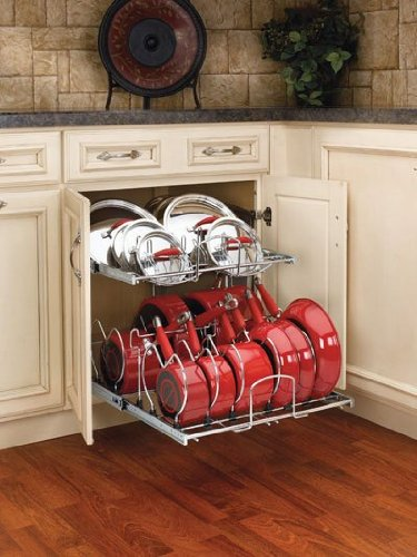 Rev A Shelf Rs5Cw2.2122.Cr 20-.75 In. Two Tier Chrome Cookware Organizer - Chrome