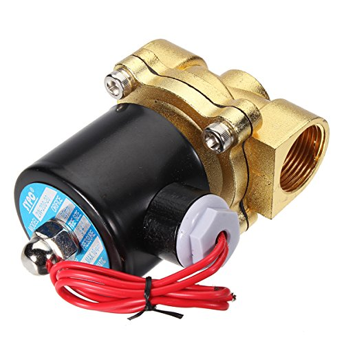 Brass 220V AC 1/2inch Electric Water Air Fuels Gas Solenoid Valve (1 2 Fuel Valve compare prices)