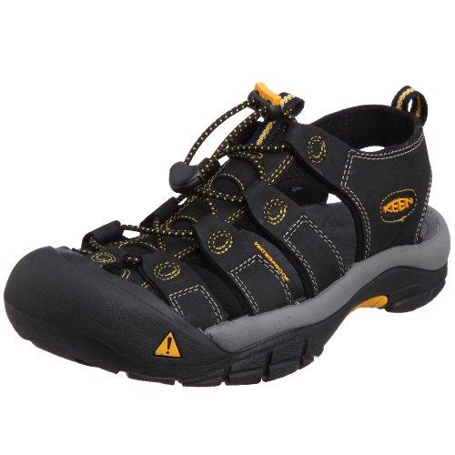Men's Newport Sandals - size: 10 UK - Colour: Black / Golden Glow