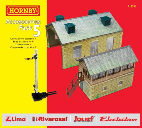 Hornby R8231 00 Gauge Building Ext Pack E Trakmat Packs and Accessory