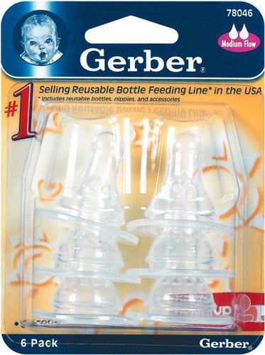 Gerber Nipples Silicone Medium Flow front-256464