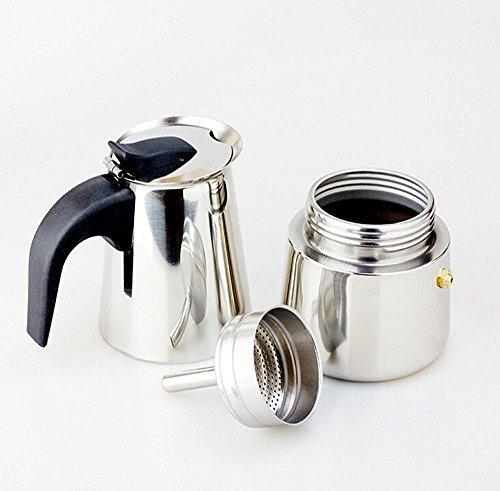 BTbestop Stainless Steel Stovetop Moka Pot Espresso Coffee Maker, 9 Cups
