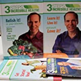 3 Steps to Incredible Health / 3 Volume Set / Volumes One, Two & Workbook