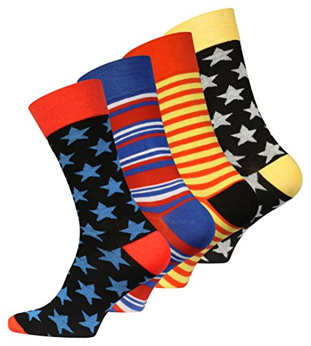 4-oder-8-Paar-Original-Vincent-Creation-Herren-Trend-Socken-Stars-and-Stripes-One-Size-Gr-40-45
