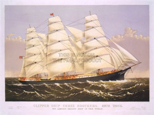paintings-transport-three-brothers-clipper-ship-sail-mast-sea-poster-18x24-affiche-lv3485