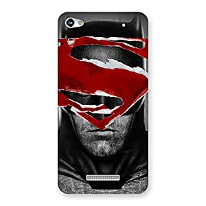 Stylish Black Red Forhead Back Case Cover for Micromax Hue 2