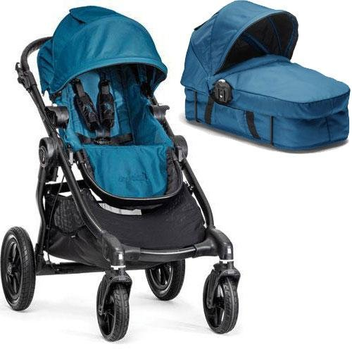 Baby Jogger - City Select Stroller With Bassinet - Teal front-796939