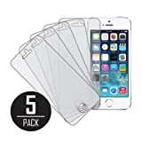 MPERO Collection 5 Pack of Matte Anti-Glare Screen Protectors for Apple iPhone 5 / 5S / 5C