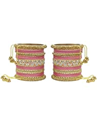 MUCH MORE Ethnic Collection Charming Bangles With Zircons Made Kada For Women Wedding Jewelry - B01KVMROQY