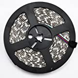 eTopLED (TM) Waterproof Flexible 300 Color Changing RGB Ribbon Flexible LED Light Strip 12v (5m 16.4ft/reel)