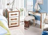 MY Furniture 2x verspiegelte Nachttische & Schminktisch/Konsole CAPE VERDE