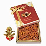 Chocholik Amazing Treat Of Almonds, 250 Gm With Ganesha Idol - Chocholik Dry Fruits