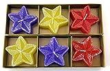 Hosley Decorative Set of 6 Glittered Floating Candles