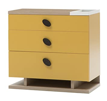 New Joy New Land Children Chest of Drawers, 76 x 80 x 42 cm, Yellow